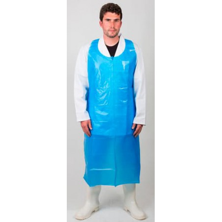 Delantal Polietileno G150 76x120cm Azul (100 Uds)