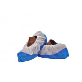 Cubrezapatos TST de PP Blanco con Suela Reforzada CPE Azul (50 Uds)
