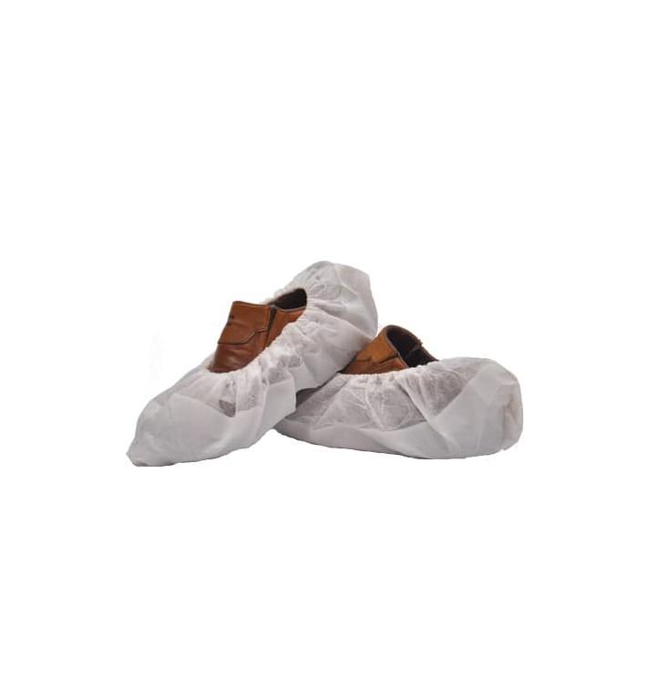 Cubrezapatos TST de PP Blanco con Suela Reforzada CPE Blanco (50 Uds)