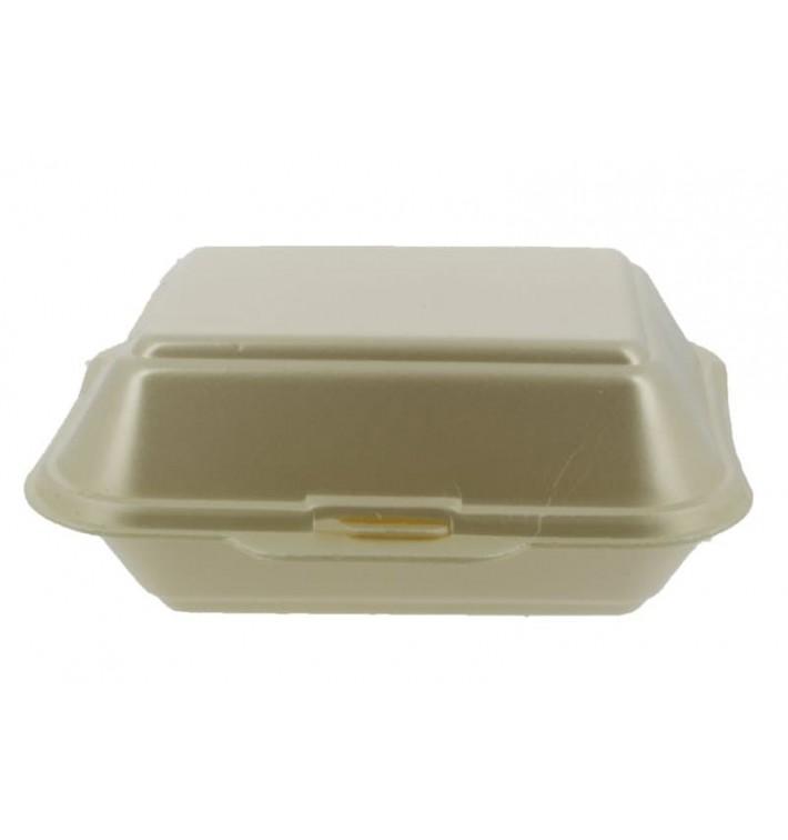 Envase Foam LunchBox Champagne 185x155x70mm (125 Uds)