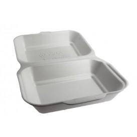 Envase Foam LunchBox Blanco 185x155x70mm (125 Uds)