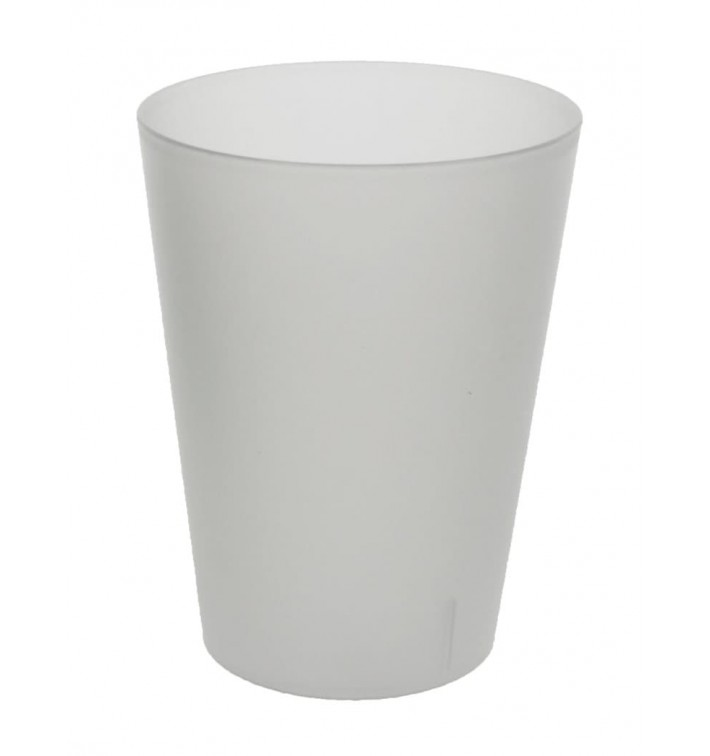 Vaso Reutilizable para Sidra PP Translúcido 500ml (16 Uds)