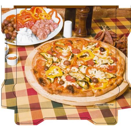 Cajas para Pizza Al Bassanello Tavola 30x30x4,2 cm (100 Uds)