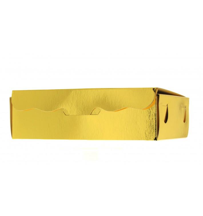 Caja para Dulces y Bombones Oro 11x6,5x2,5cm 100g (100 Uds)