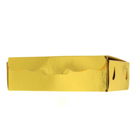 Caja para Dulces y Bombones Oro 11x6,5x2,5cm 100g (50 Uds)