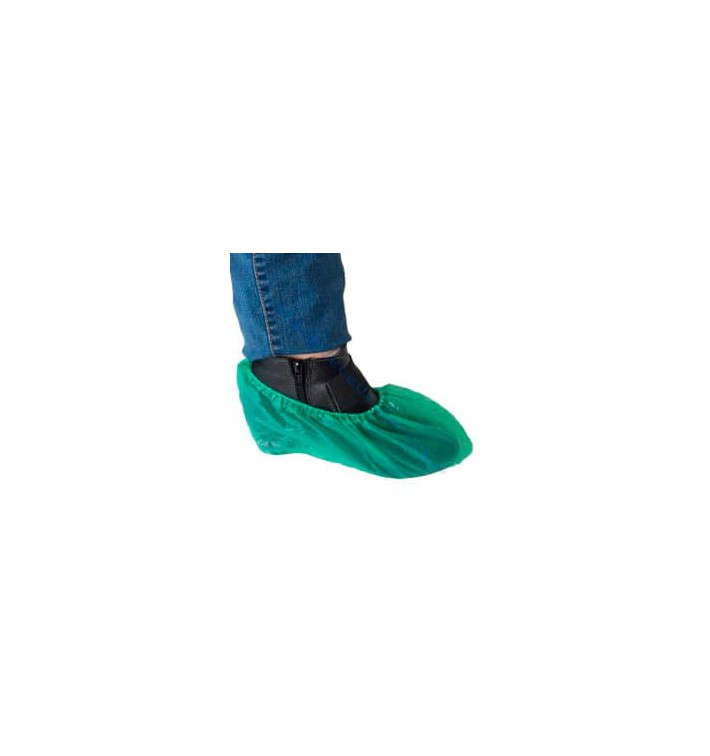 Cubrezapatos en Polietileno CPE G160 Verde (100 Uds)
