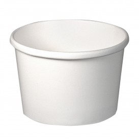 Tarrina de Cartón Blanca para Sopa 8 Oz (25 Uds)
