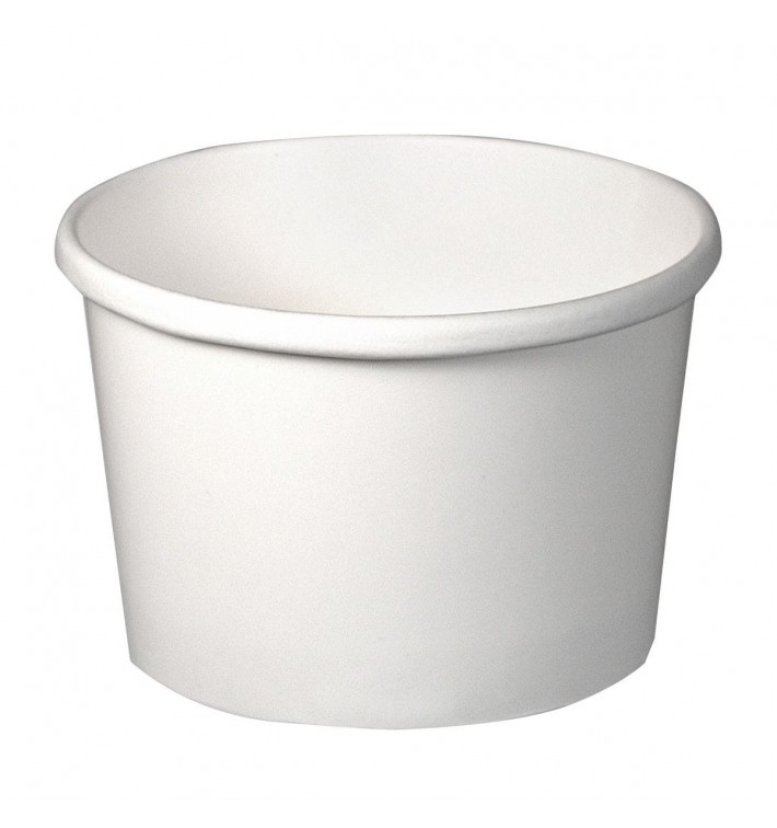 Tarrina de Cartón Blanco 8Oz/237ml Ø9,1cm (25 Uds)