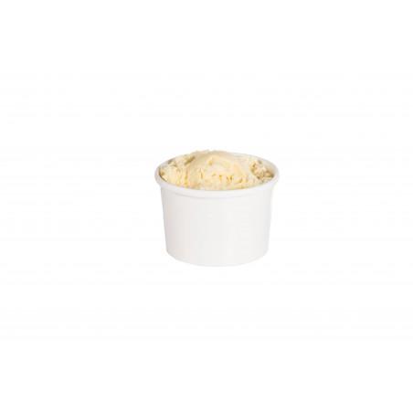Tarrina de Cartón Blanca para Sopa 8 Oz (500 Uds)