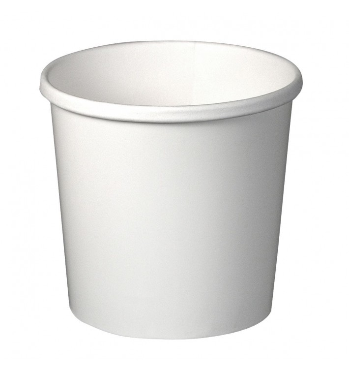 Tarrina de Cartón Blanco 12Oz/355ml Ø9,1cm (25 Uds)