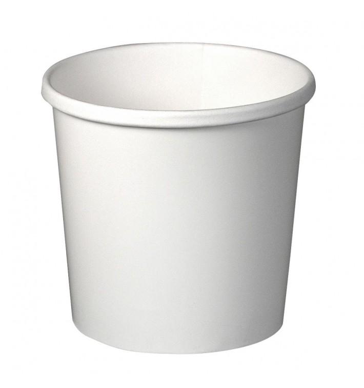 Tarrina de Cartón Blanco 12Oz/355ml Ø9,1cm (500 Uds)