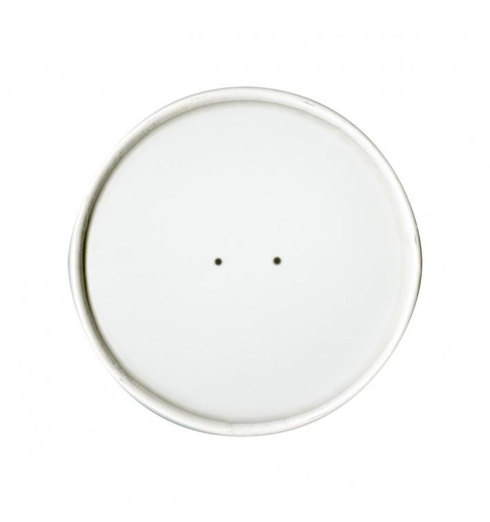 Tapa Plana de Papel Blanco Ø9,1cm (25 Uds)