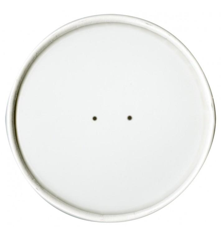 Tapa de Papel Blanca para Tarrina de 26 y 32 Oz (500 Uds)