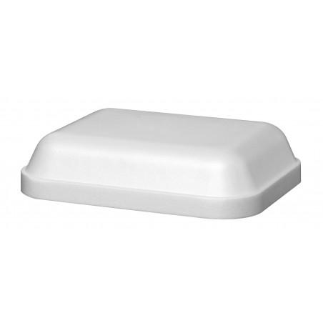 Tapa para Tarrina Rectangular Isotermica Blanca 430ml (25 Uds)