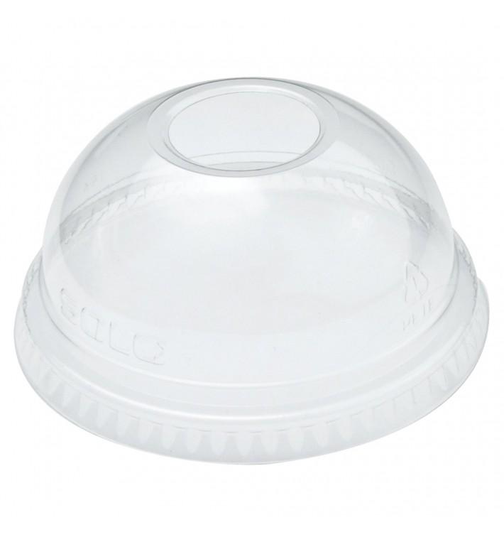 Tapa Cúpula con Agujero PET Cristal Ø7,8cm (100 Uds)