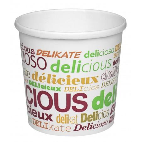 Tarrina de Cartón Delicious para Sopa 26 Oz (25 Uds)
