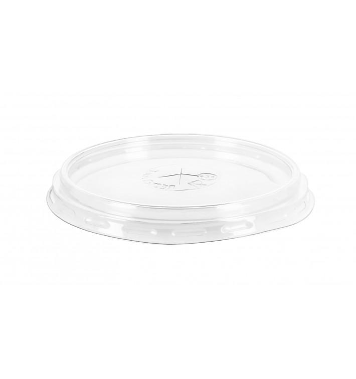Tapa de Plastico PS Transparente Vaso 575ml Ø9,4cm (100 Uds)