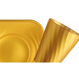 """Vaso de Plastico PP """"X-Table"""" Oro 320ml (128 Uds)"""