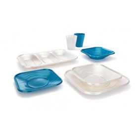 "Bandeja de Plastico PP ""X-Table"" Perla 330x230mm (60 Uds)"