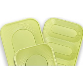 "Bandeja de Plastico PP ""X-Table"" Lima 330x230mm (2 Uds)"