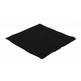 Servilleta de Papel Negro 33x33cm 1 Capa (70 Uds)