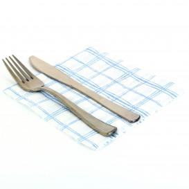 Servilleta de Papel 33x33 Cuadros Azules 1 Capa (3.840 Uds)