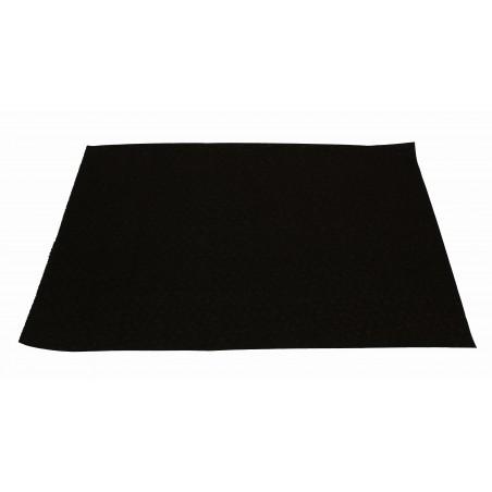 Mantel Individual de Papel Negro 30x40cm 40g/m² (500 Uds)