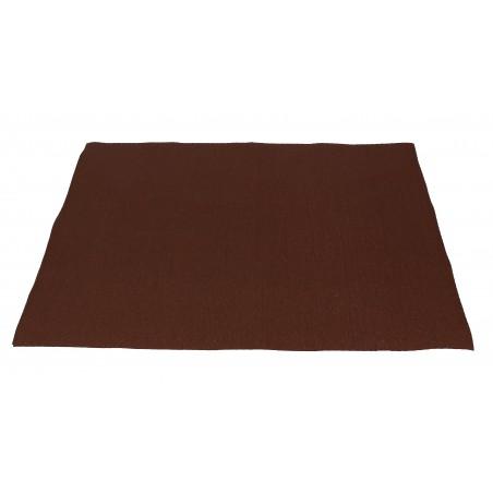 Mantel Individual de papel 30x40cm Marron 40g (1.000 Uds)