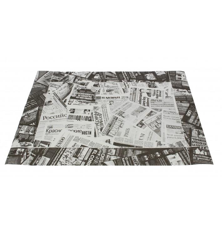 "Mantel Individual Papel 30x40cm ""Prensa"" Negro 50g (2500 Uds)"