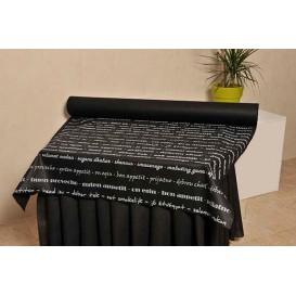 "Mantel Rollo Novotex Negro ""Buen Provecho"" 1,2x50m P40cm (6 Uds)"