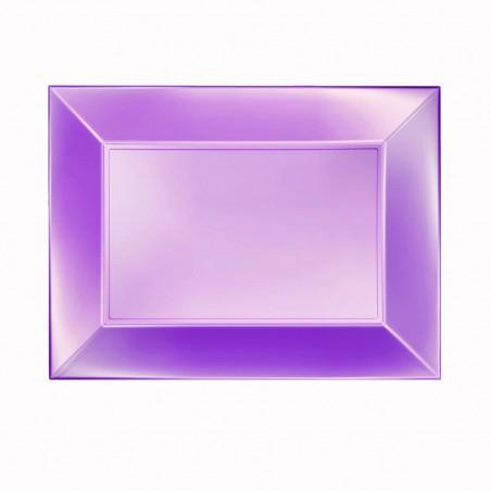 Bandeja Plastico Violeta Nice Pearl PP 280x190mm (12 Uds)