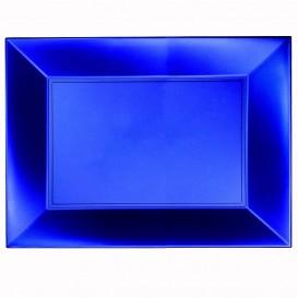 Bandeja Plastico Azul Nice Pearl PP 345x230mm (6 Uds)
