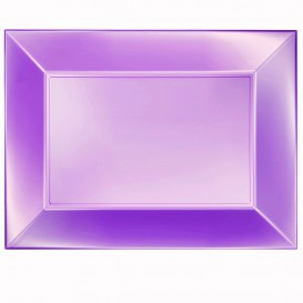 Bandeja Plastico Violeta Nice Pearl PP 345x230mm (6 Uds)