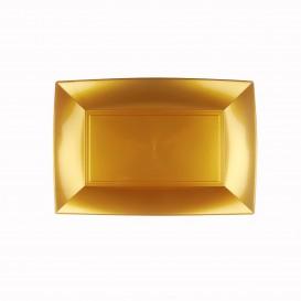 Bandeja de Plastico Oro Nice PP 280x190mm (12 Uds)