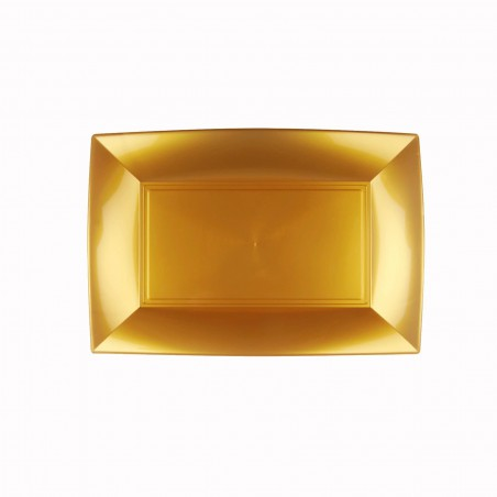 Bandeja Plastico Oro Nice PP 280x190mm (12 Uds)