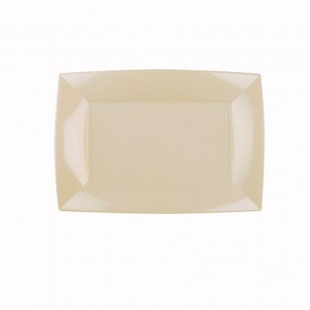 Bandeja de Plastico Crema Nice PP 280x190mm (12 Uds)