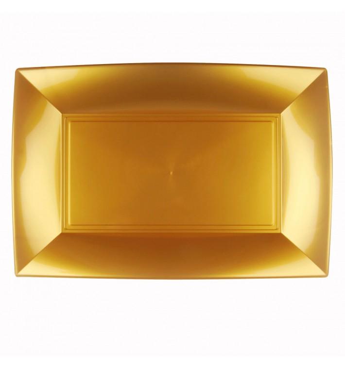 Bandeja de Plastico Oro Nice PP 345x230mm (6 Uds)