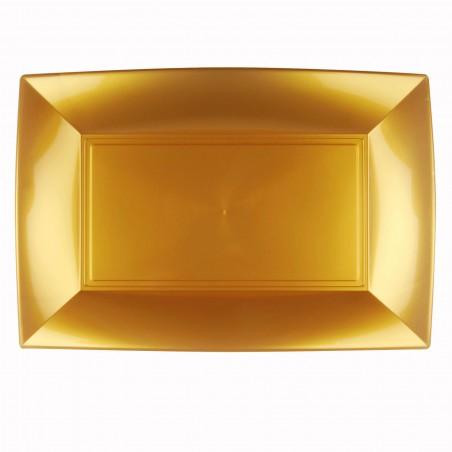 Bandeja de Plastico Oro Nice PP 345x230mm (30 Uds)