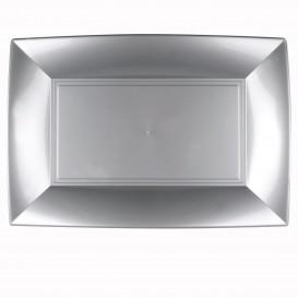 Bandeja de Plastico Gris Nice PP 345x230mm (6 Uds)