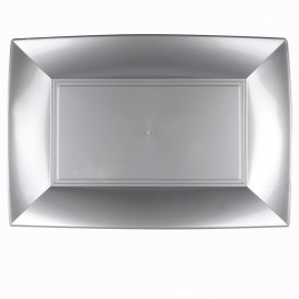 Bandeja de Plastico Gris Nice PP 345x230mm (30 Uds)