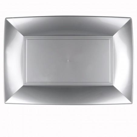 Bandeja Plastico Gris Nice PP 345x230mm (60 Uds)