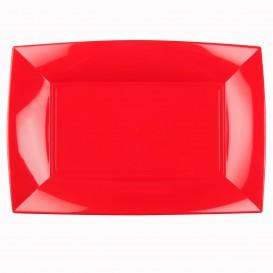 Bandeja de Plastico Rojo Nice PP 345x230mm (6 Uds)