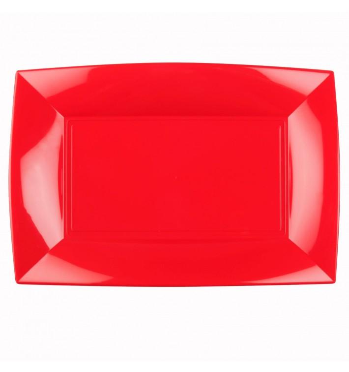 Bandeja Plastico Rojo Nice PP 345x230mm (6 Uds)