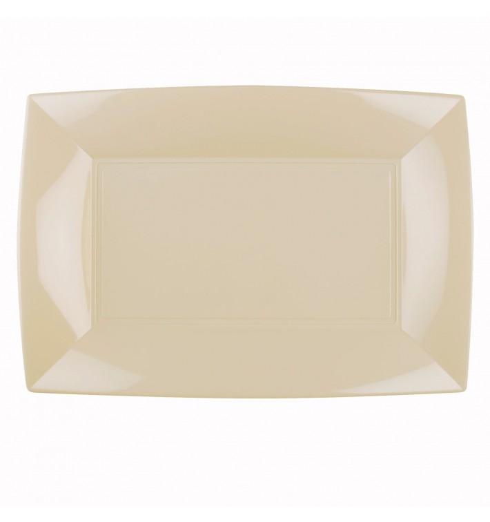 Bandeja de Plastico Crema Nice PP 345x230mm (6 Uds)