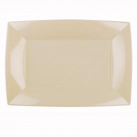 Bandeja Plastico Crema Nice PP 345x230mm (60 Uds)