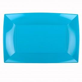 Bandeja de Plastico Turquesa Nice PP 345x230mm (30 Uds)