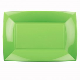 Bandeja de Plastico Verde Lima Nice PP 345x230mm (6 Uds)