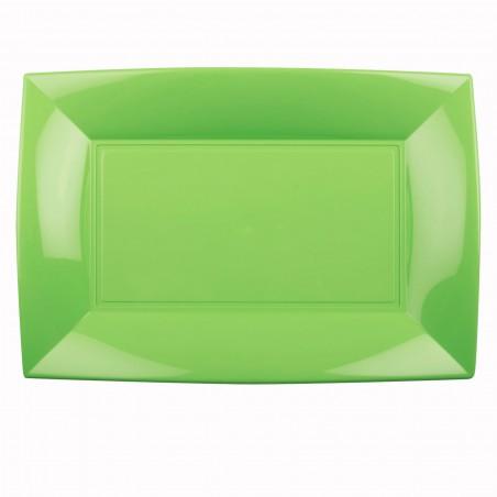 Bandeja Reutilizable PP Verde Lima Nice 34,5x23cm (6 Uds)