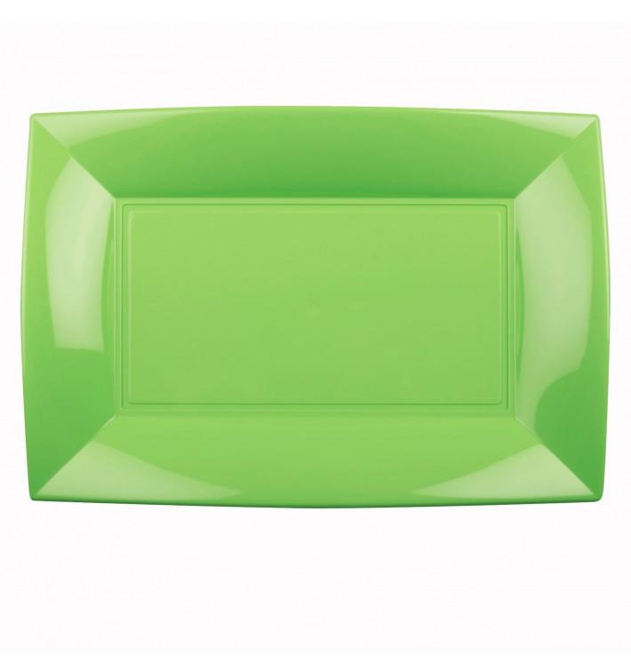 Bandeja Plastico Verde Lima Nice PP 345x230mm (60 Uds)