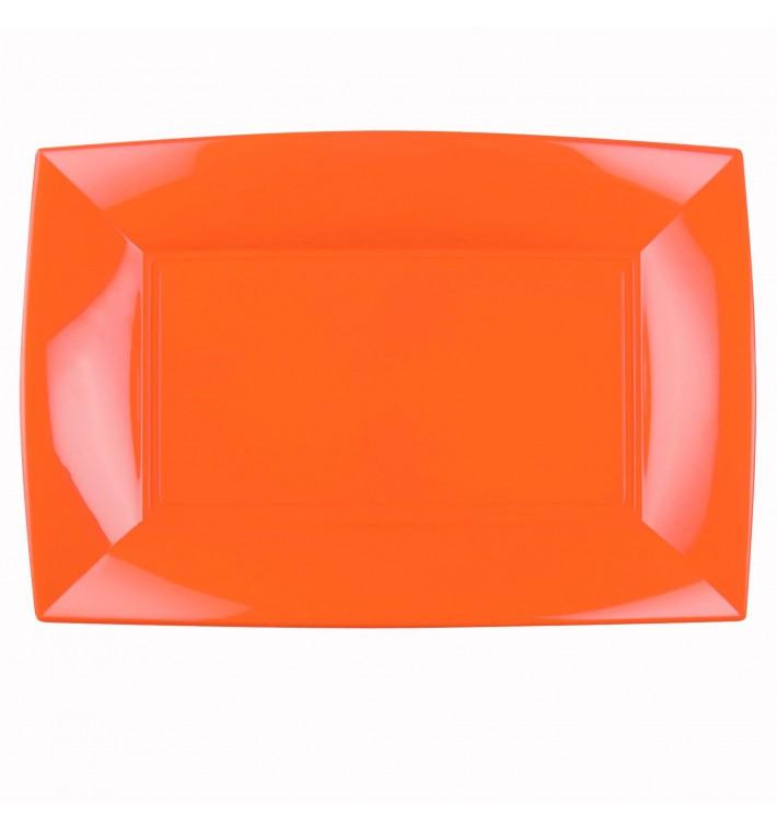 Bandeja de Plastico Naranja Nice PP 345x230mm (30 Uds)
